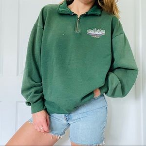 Vintage Green Retro Telluride Colorado Sweatshirt